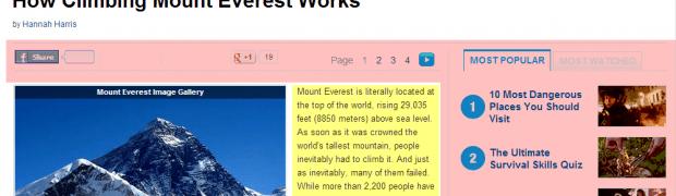 HowStuffWorks Website Clutter