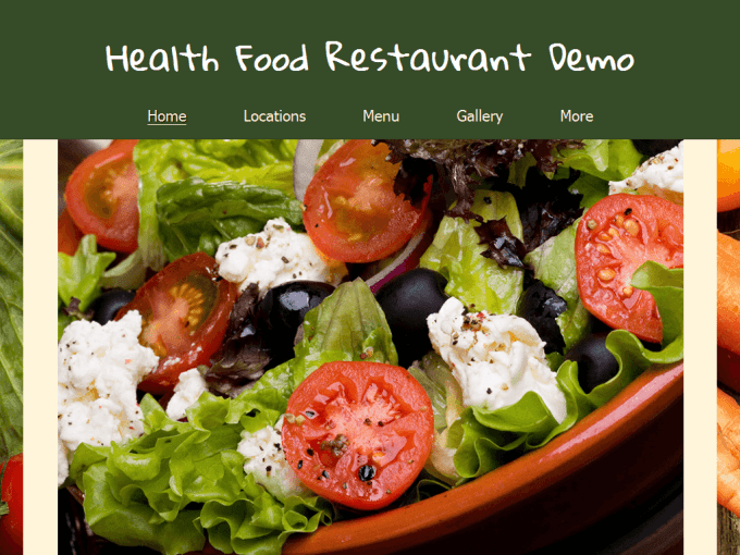 Healthy Restaurant Demo