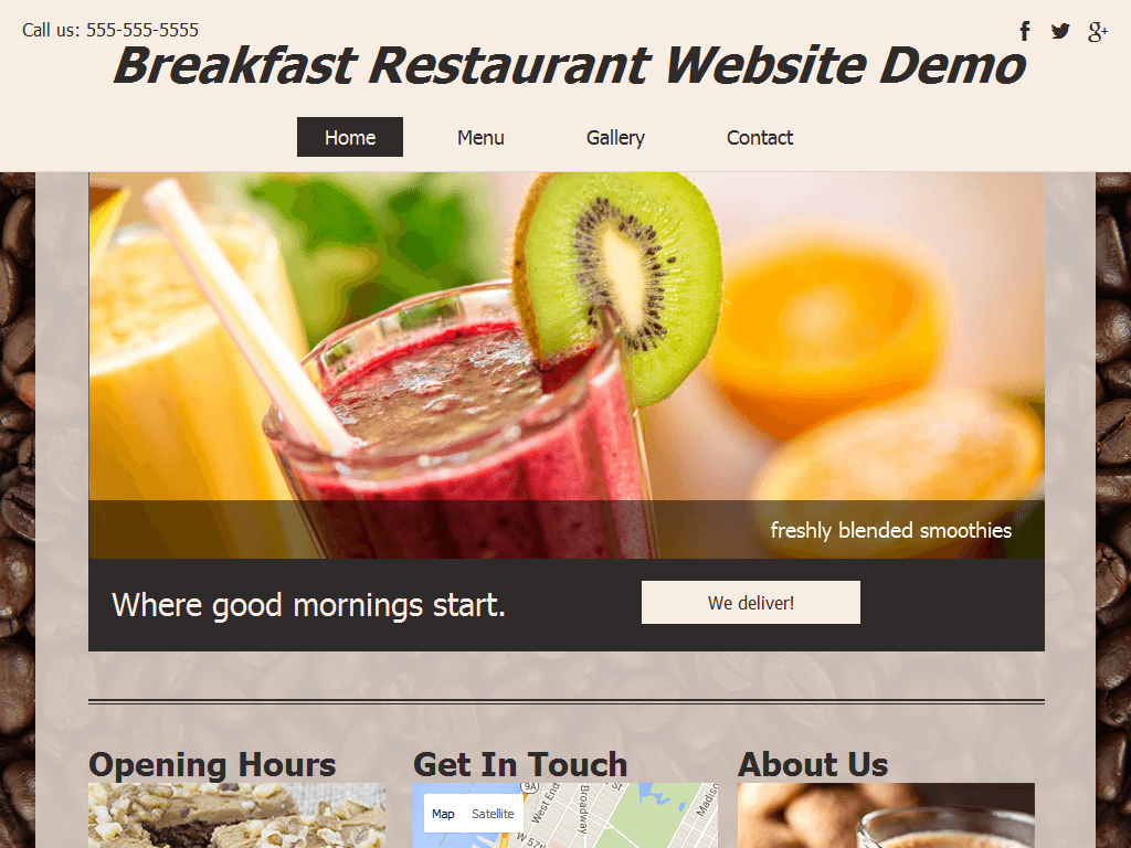Breakfast Place Website Demo