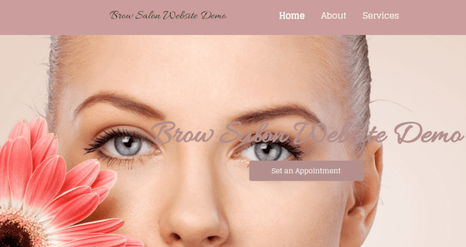 Brow Salon Website Demo
