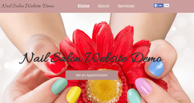 Nail Salon Website Demo