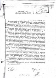 Contractul de vânzare-cumpărare încheiat între Baştea Ioan şi soţii Iohannis cu ridicola sumă de 50.000.000 (cincizeci milioane) de lei vechi.