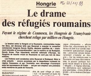 Propaganda occidentală anti-ceaușistă vorbea de mii de etnici ungari din România care treceau frontiera fraudulos în Ungaria.