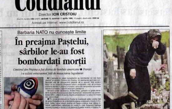 La 19 ani după: Apelul intelectualilor, în frunte cu Liiceanu, Patapievici și Tismăneanu, pentru susținerea bombardamentelor NATO asupra Serbiei, realizate […]
