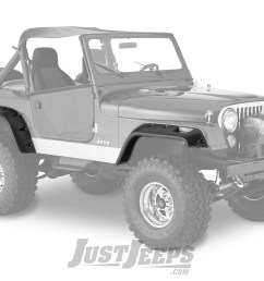 just jeeps bushwacker 6 cut out style fender flares for 1976 86 jeep cj5 cj7 models fenders fender flares shop by part jeep parts store in  [ 2000 x 1335 Pixel ]