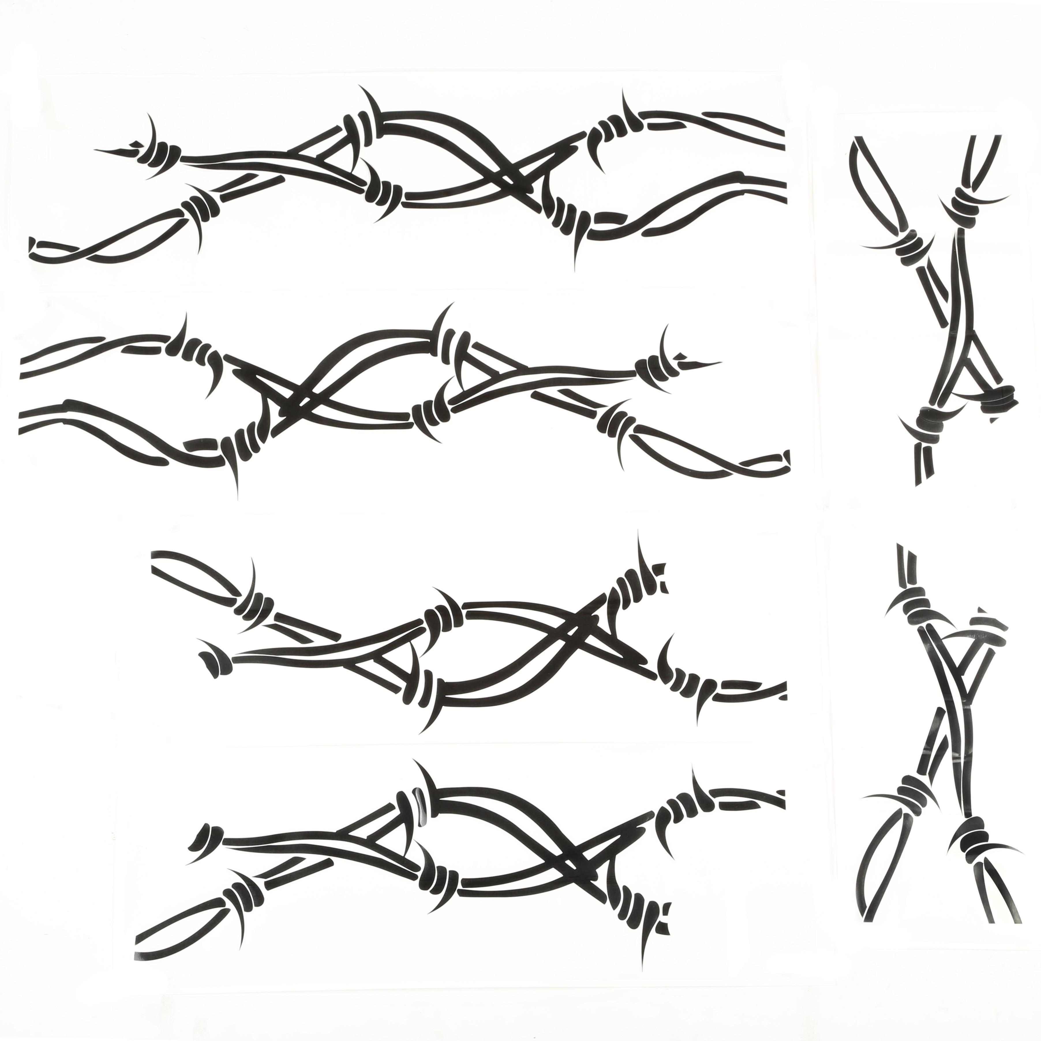 Just Jeeps Rugged Ridge Black Vinyl Barbed Wire Decals