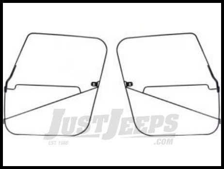Just Jeeps Rugged Ridge Soft Top Door Frames 1976-86 CJ7