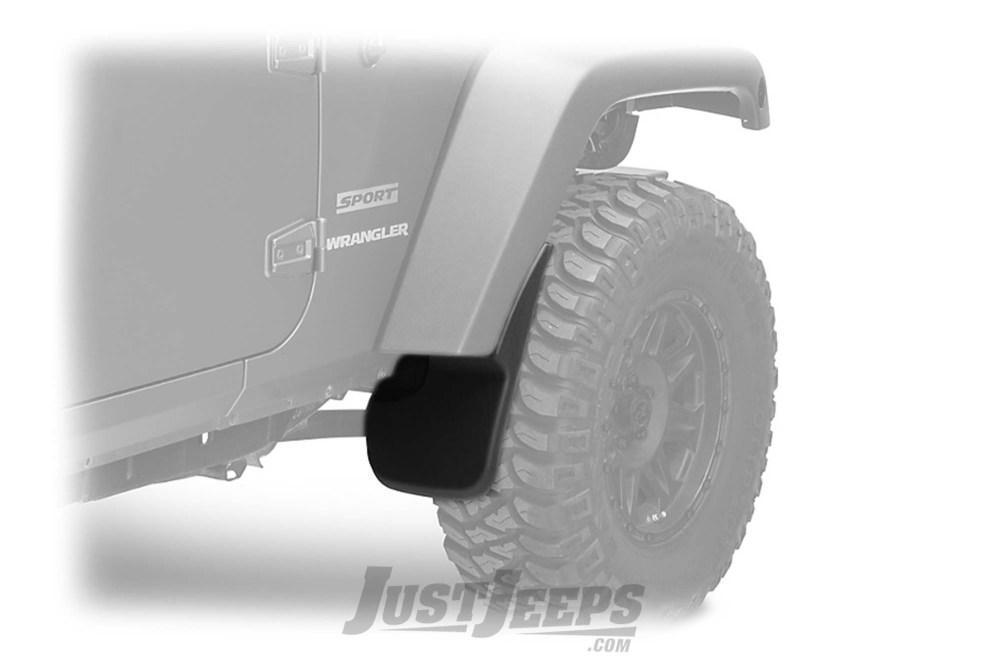 medium resolution of just jeeps husky liners custom molded front mud flaps for 2007 18 jeep wrangler jk 2 door unlimited 4 door models floor mats front area liner shop