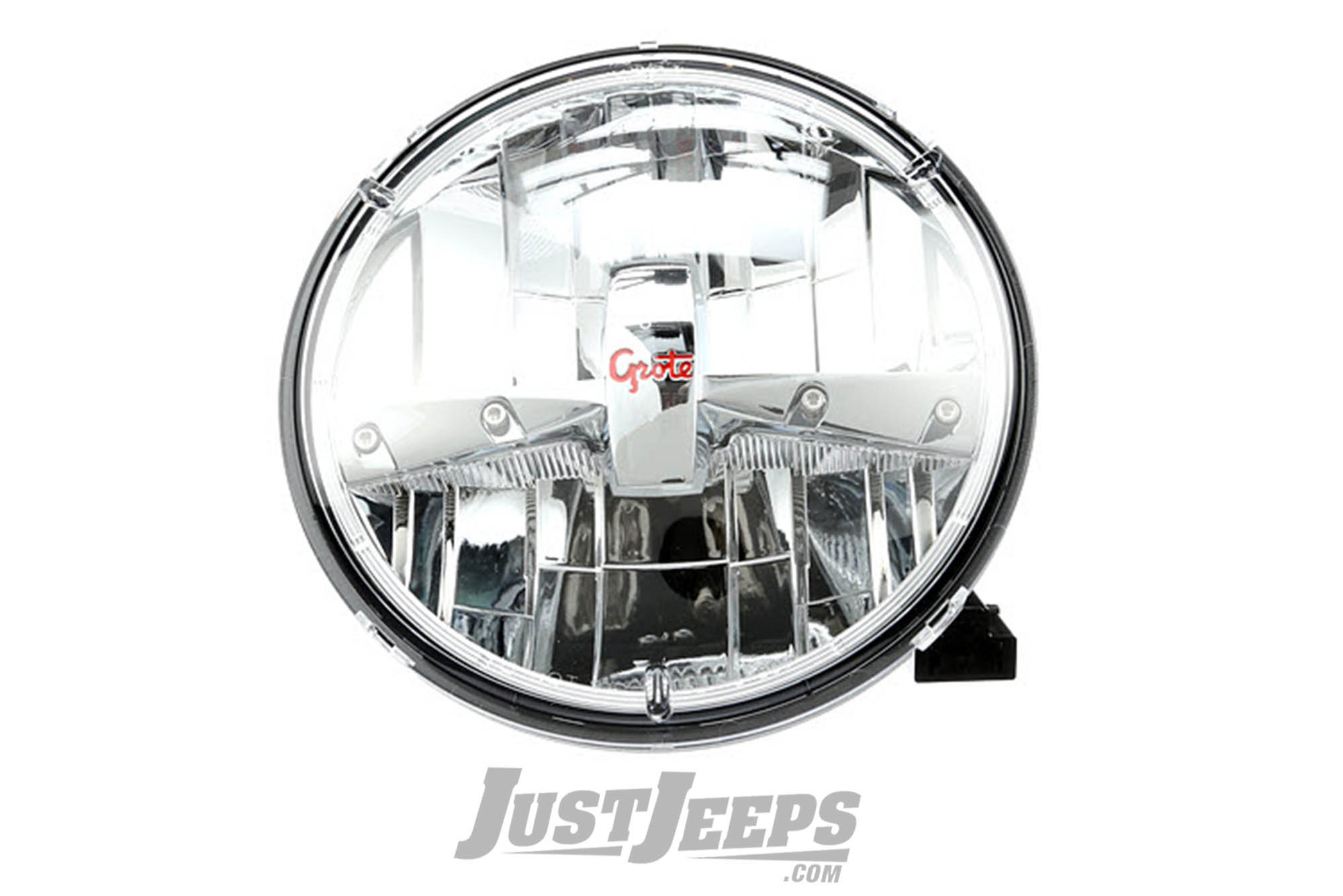 Just Jeeps Grote LED Headlamp (Single) For 1955-18 Various