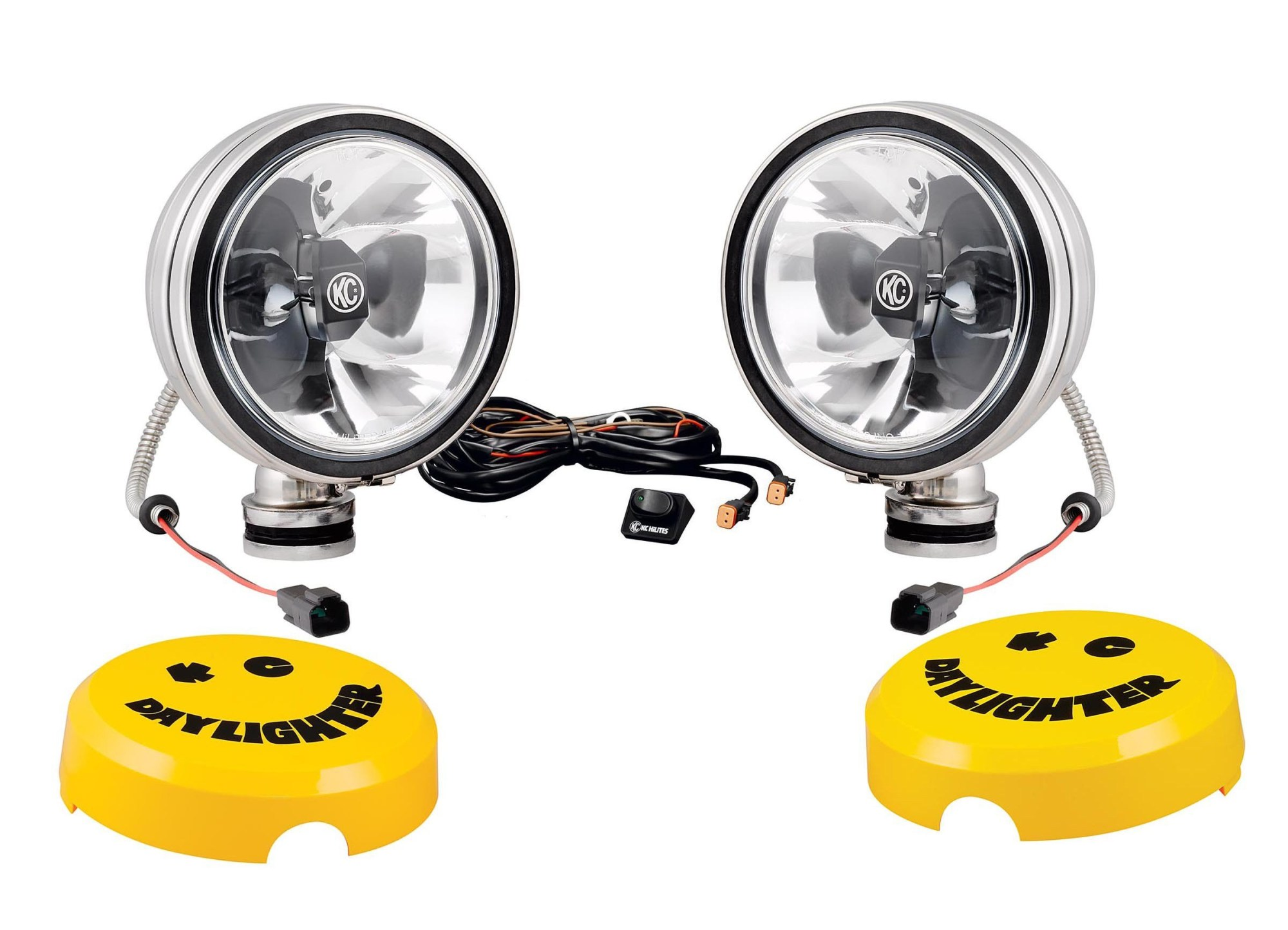 hight resolution of just jeeps kc hilites 6 daylighter with gravity led g6 pair pack system spot in stainless steel lights offroad led lights accessories shop by part