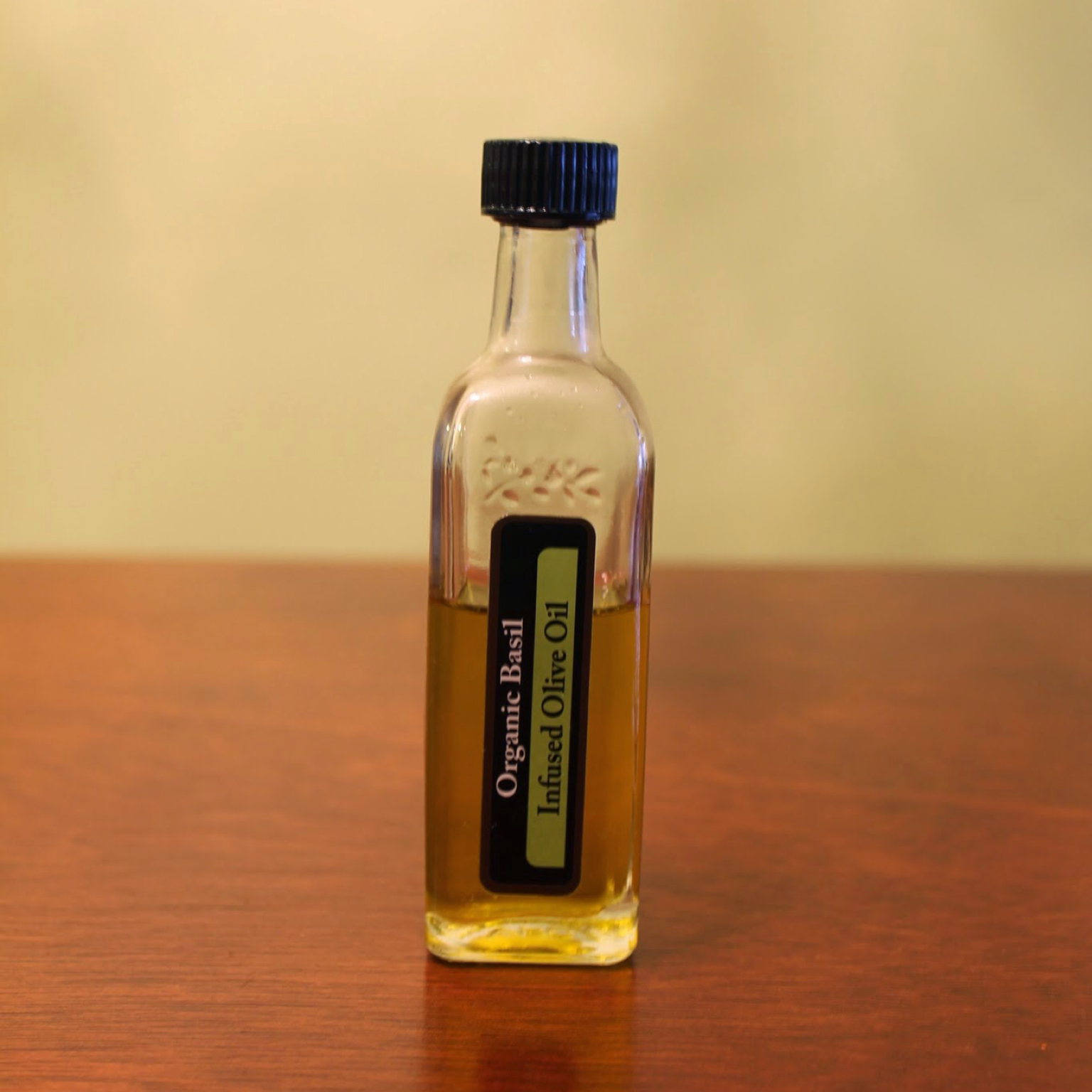 Botulism is definitely a concern when making any kind of infused olive oil, especially with garlic-infused olive oil. Infused olive oil will generally keep for up to one month, especially if kept refrigerated. If the ingredients in the olive oil start to show any signs of spoilage, discard the rest of the oil immediately.