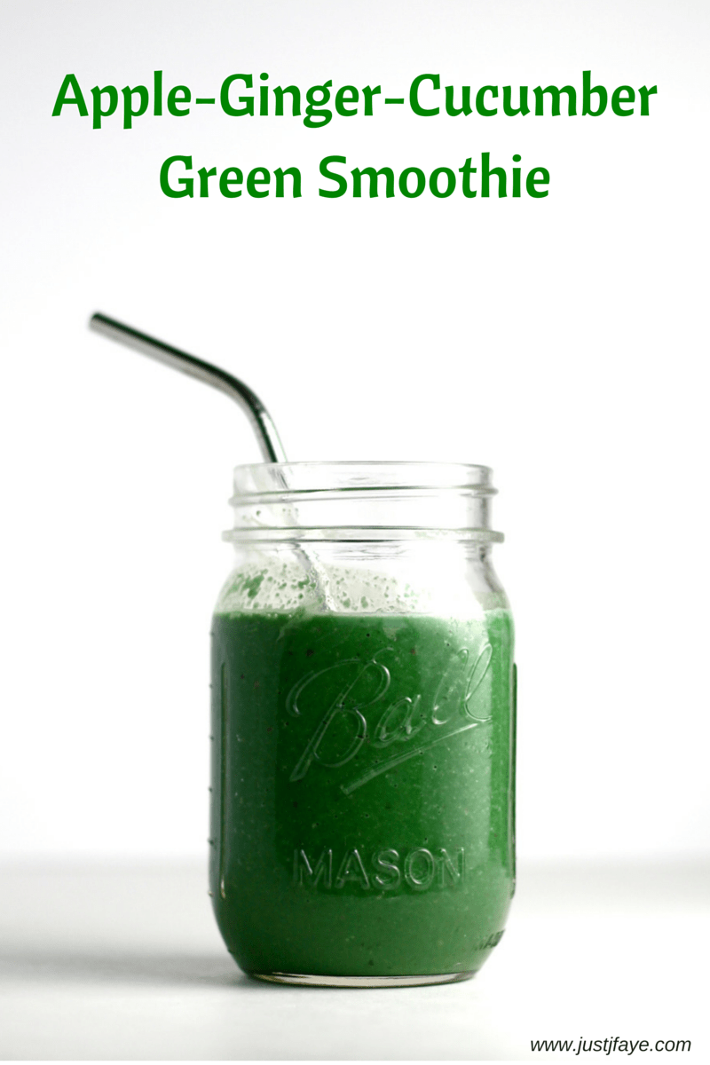 Apple-Ginger-Cucumber Green Smoothie