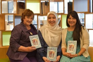 Left to right: Hazel Edwards, Ozge Alkan and Serena Geddes