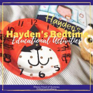 Hayden's Bedtime Clock Craft