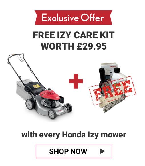 honda izy lawn mower free care kit