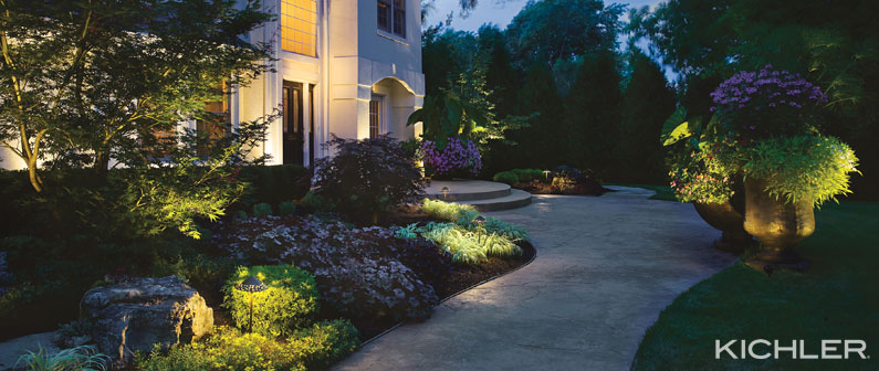 the secret to outdoor lighting design