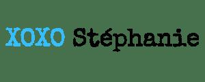 XOXO STEPHANIE LOGO BLAUW
