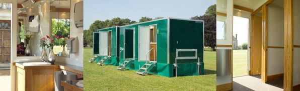 Luxury toilets for hire
