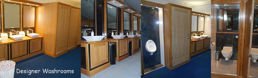 Luxury toilet hire London