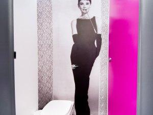 Boutique trailer interior Audrey Hepburn