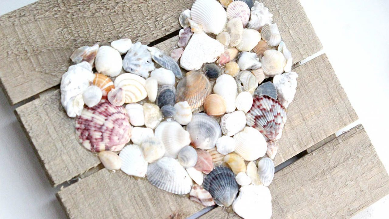 How To Make Diy Seashell Wall Art Easy Craft For The Home