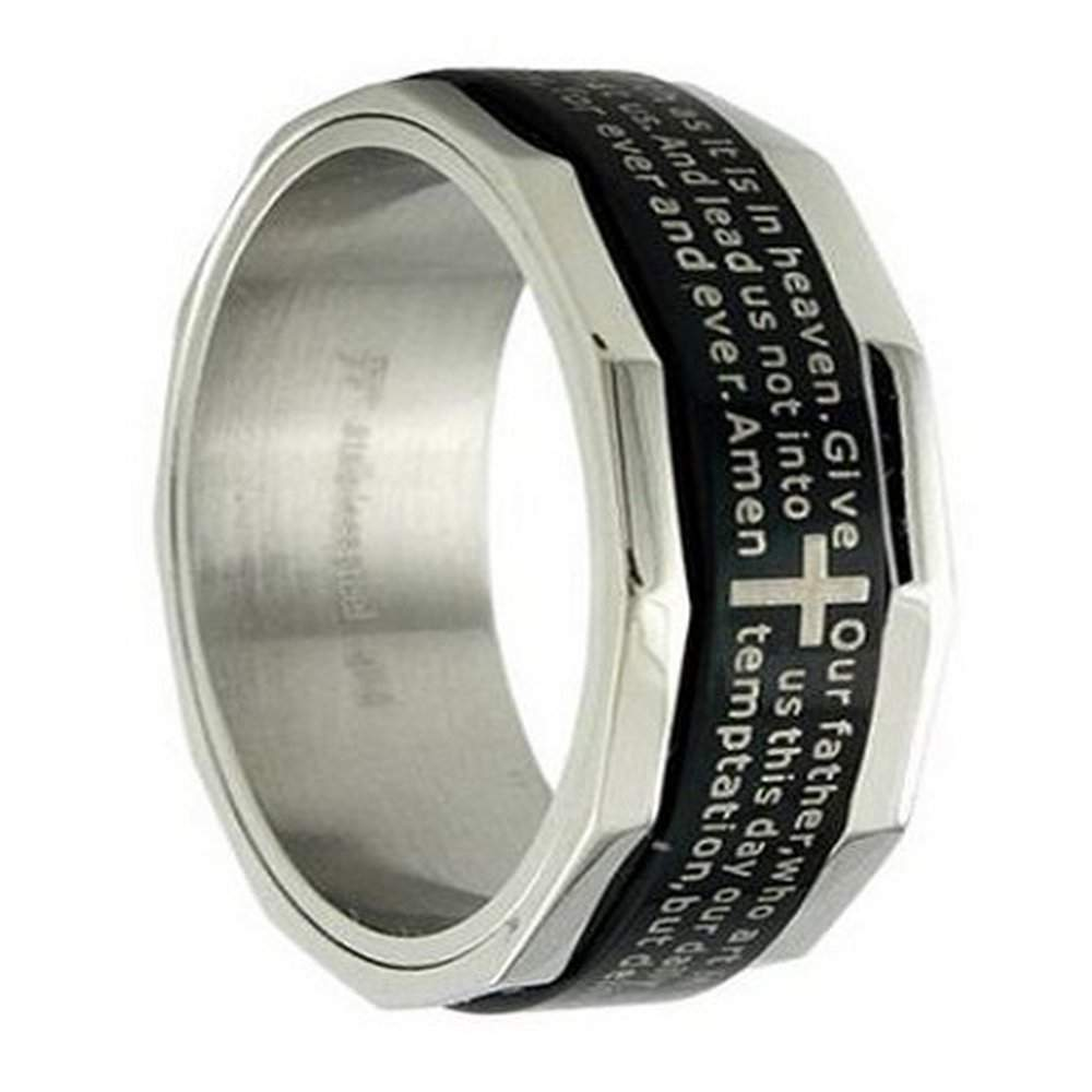 Mens Stainless Steel Ring And Christian Ring 8mm