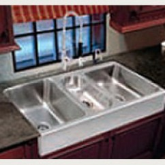 Kitchen Farm Sink Smudge Proof Stainless Steel Appliances Farmhouse Sinks For The Just Mfg Triple Bowl