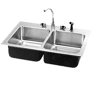 double bowl sinks faucets heavy