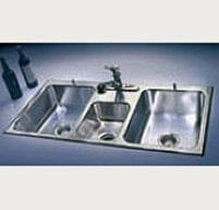 ss kitchen sinks cheap rugs stainless steel 100 usa made just mfg triple bowl
