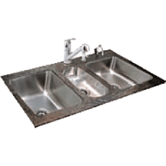 Triple Sink Kitchen Stainless Steel Shelves For 3 Compartment Commercial Sinks Just Mfg Manufacturing