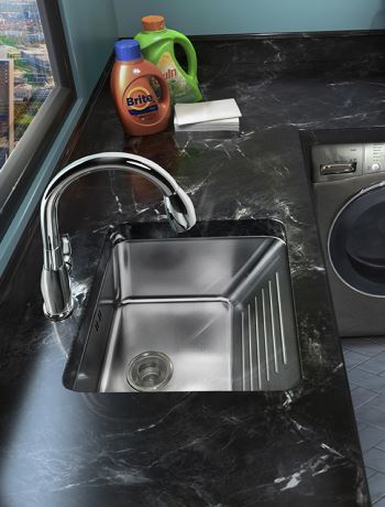 60 degree washboard laundry sink system