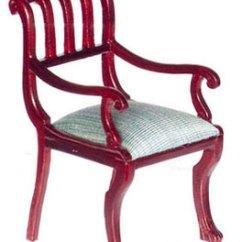 British Colonial Chair And Half Sleeper Dollhouse Armchair Azp3039 Just Miniature Scale