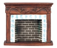Dollhouse Brown Resin Fireplace, AZD1679 | Just Miniature ...