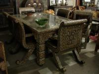 Unique dining room set - unique camel bone furniture