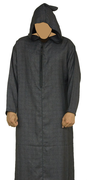 Morrocan Mens Jubba Black muslim  clothing  for Men