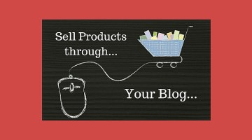 sell products through your blog