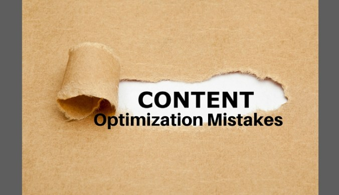content optimization mistakes