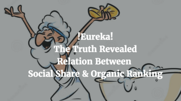 Relationship Between Organic Ranking and Social Shares