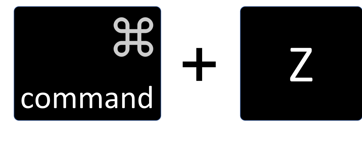 Undo shortcut key Command + Z
