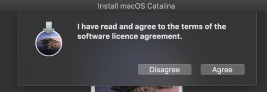 Agreement to install Catalina