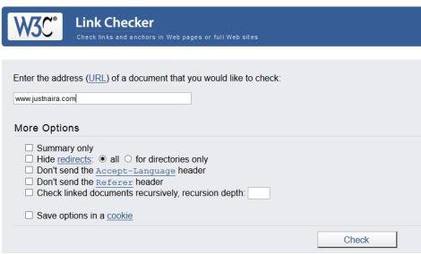 w3c link checker