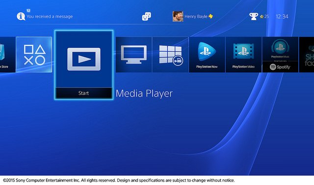 Media Player for the PS4