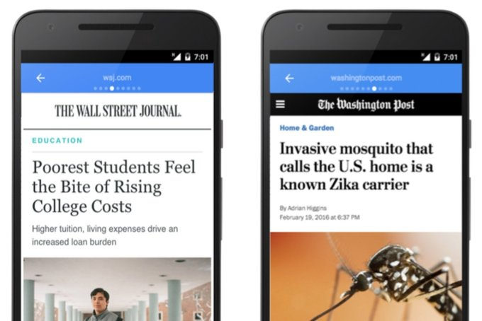 Google's alternative to Facebook Instant Articles is now available on the mobile web