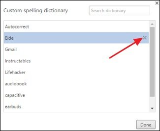 Removing misspelled words of the dictionary