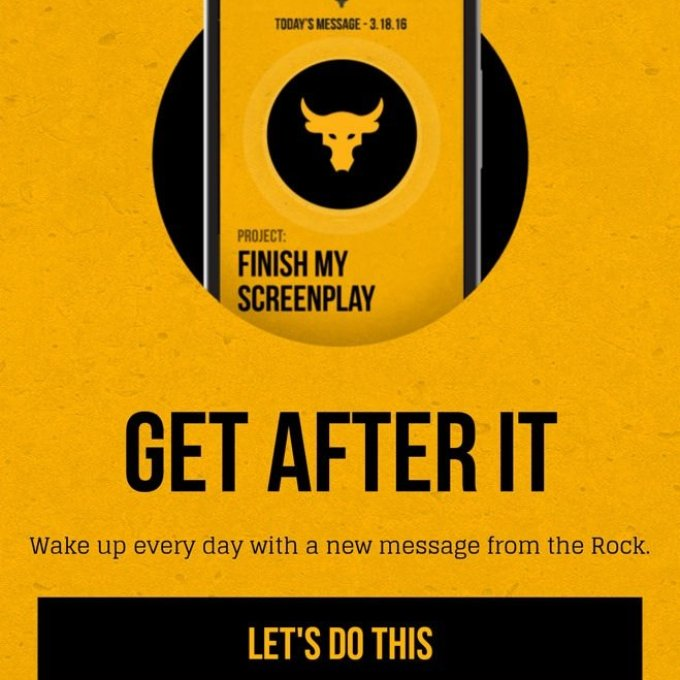 Techtertainment: The Rock Launches Alarm Clock Mobile App tagged The Rock Clock