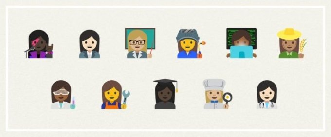 More female emojis rolling out in the spirit of gender equality