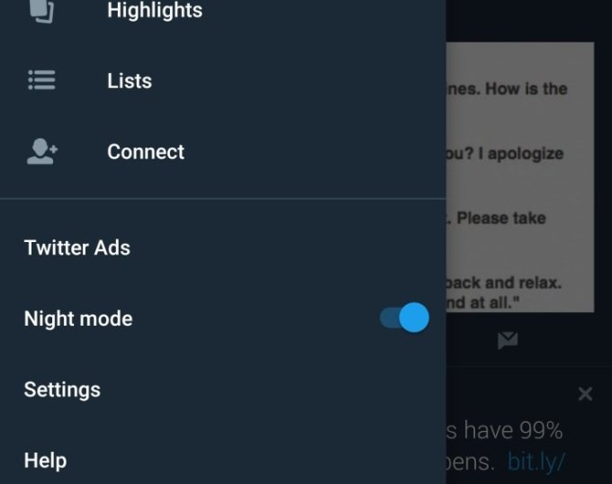 iOS Soon To Rock Twitter's Night Mode