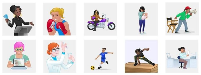 Have you seen Skype's new 'Power Women' Mojis and emoticons?
