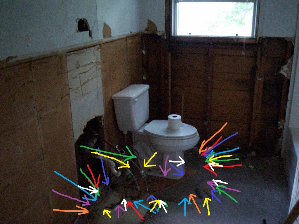 Hurricane Ike and a Bathroom Subfloor Repair - Just Needs Paint