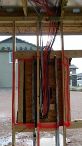 New build construction: Insane easy access to the electrical panel.